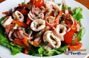 kalamar salatası tarifi